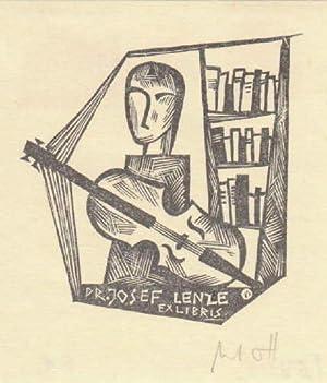 Exlibris für Josef Lenze. Holzschnitt von Norbert: Ott, Norbert -
