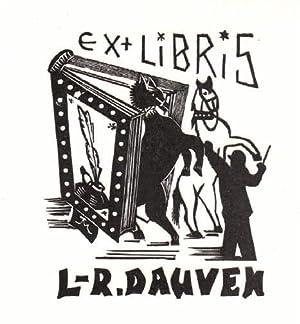 Exlibris für L.-R. Dauven. Holzschnitt von Jocelyn: Mercier, Jocelyn -