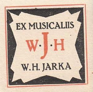Exlibris für W.H.Jarka (Ex Musicis). Klischéedruck.: Unbekannt -