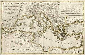 Mare Mediterraneum unacum suis Insulis et vicinis: Mittelmeer -