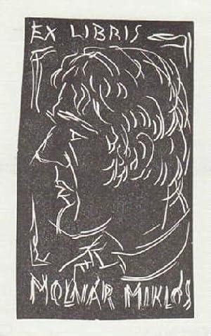 Exlibris für Miklos Molnar. Holzschnitt von Karoly: Andruskó, Károly -