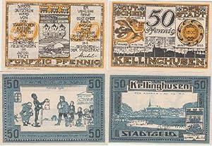 Stadtgeld der Stadt Kellinghusen. 2 Gutscheine über: Kellinghusen -