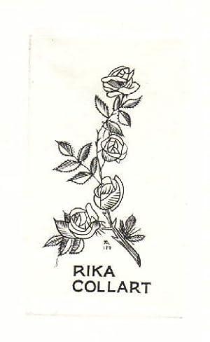 Exlibris für Rika Collart. Kupferstich von Jocelyn: Mercier, Jocelyn -