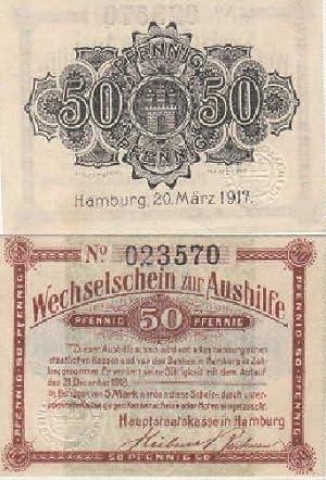 Wechselschein zur Aushilfe über 50 Pfennig.: Hamburg -
