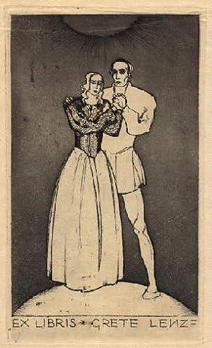 Exlibris für Grete Lenze. Original-Radierung von Sepp: Frank, Sepp -