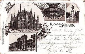 Ricordo di Milano. Vier Ansichten (La Cattedrale,: Mailand -