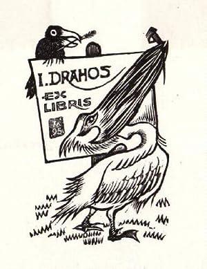 Exlibris für Istvan Drahos. Holzschnitt von Jocelyn: Mercier, Jocelyn -