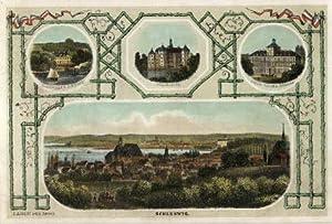 Gesamtansicht, darüber drei kleine Ansichten von Louisenlund,: Schleswig -