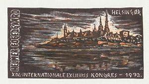 Exlibris für Helmer Fogedgaard anlässlich des XIV.: Andruskó, Károly -