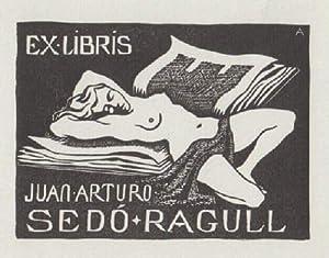 Exlibris für Juan Arturo Sedó Ragull. Holzschnitt: Aquin, Francois d`