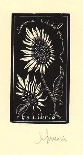 Exlibris für Simone Winkeler. Holzschnitt von Jocelyn: Mercier, Jocelyn -