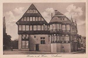 Dechanei. Ansichtskarte in bräunlichem Lichtdruck. Ungelaufen.: Höxter a.d.Weser -