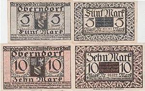 Kriegsnotgeld der Amtskörperschaft Oberndorf. 2 Scheine über: Oberndorf -