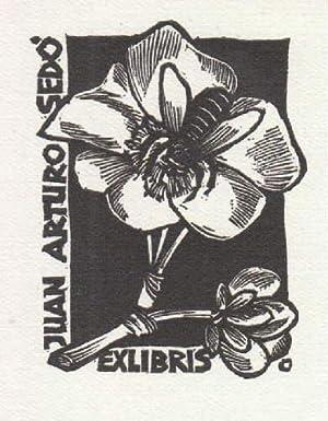 Exlibris für Juan Arturo Sedò. Holzschnitt von: Ott, Herbert -