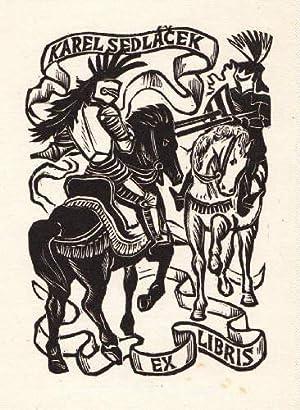 Exlibris für Karel Sedlacek. Holzschnitt von Michael: Florian, Michael -