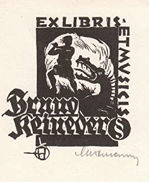 Exlibris für Bruno Reineder (Ex Musicis). Holzschnitt: Hofmann, Leopold -