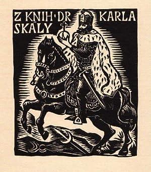 Exlibris für Dr. Karla Skaly. Holzschnitt von: Florian, Michael -