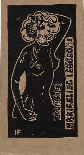 Exlibris für Maria Elisa Leboroni. Holzschnitt goldfarbigem: Franz, Illi -