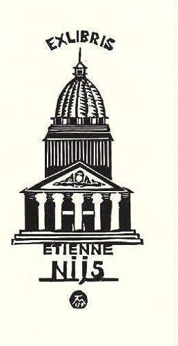 Exlibris für Etienne Nijs. Holzschnitt von Jocelyn: Mercier, Jocelyn -