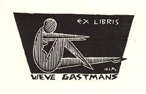 Exlibris für Lieve Gastmans. Holzschnitt von Jocelyn: Mercier, Jocelyn -