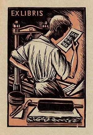 Exlibris für Jan Beranek. Holzschnitt von Michael: Florian, Michael -