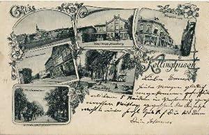 Einfarbige Ansichtskarte mit 6 kleinen Ansichten (Gesamtansicht,: Kellinghusen -