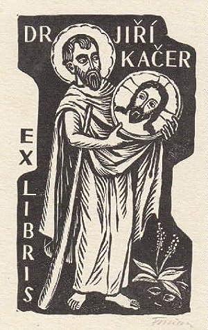 Exlibris für Dr. Jiri Kacer. Holzschnitt von: Florian, Michael -