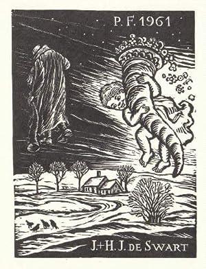 Neujahrswunsch für 1961 von J.+H.J.de Swart. Holzschnitt: Florian, Michael -