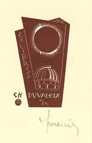 Exlibris für C.H. Duvaleix. Holzschnitt von Jocelyn: Mercier, Jocelyn -