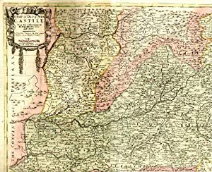 A Map of New and Old Castile. From the observations of Rodrigo Mendes Silva and others. Sold by J...
