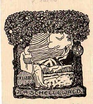 Exlibris für Ida Schellwald. Klischéedruck von Elisabeth: Schellbach, Elisabeth -