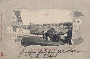 Gruss aus Kellinghusen. Totalansicht, umgeben von geprägter: Kellinghusen -