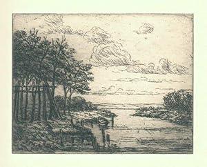 Ved Arresö. Originalradierung von Johan Rohde.: Rohde, Johan (1856