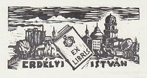 Exlibris für Istvàn Erdelyi. Holzschnitt von Karoly: Andruskó, Károly -