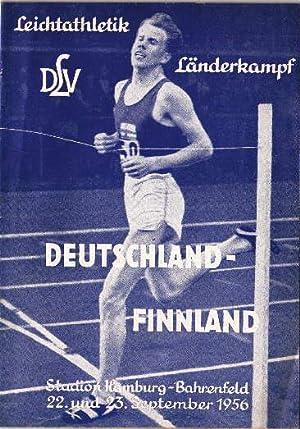 Programmheft für den Leichtathletik Länderkampf Deutschland-Finnland, Stadion: DLV -