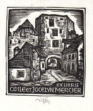 Exlibris für Odile et Jocelyn Mercier. Holzschnitt: Schöner, Erich -
