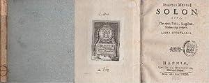 Solon sive, de ejus vita, legibus, dictis,: Meursius, Johann -