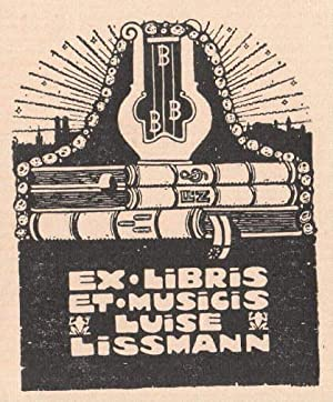 Exlibris (Ex Musicis) für Luise Lissmann. Holzschnitt.: Unbekannt -