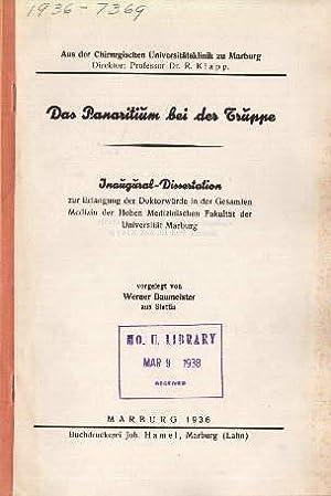 Das Pararitium bei der Truppe. Inaugural-Dissertation.: Baumeister, Werner -