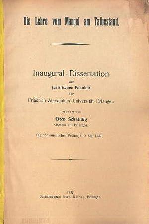 inaugural dissertation rechtswissenschaften