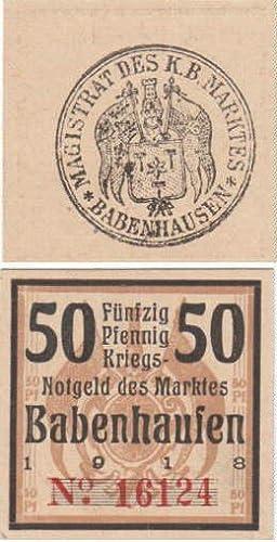 Kriegsnotgeld des Marktes Babenhausen über 50 Pfennig.: Babenhausen -