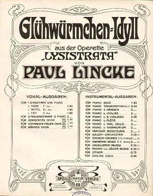 """Glühwürmchen-Idyll aus der Operette Lysistrata"""" von Paul: Linke, Paul -"""