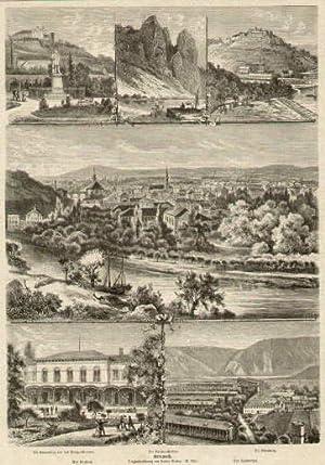 6 Ansichten auf einem Blatt (Gesamtansicht, Die: Bad Kreuznach -