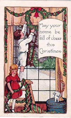 May your home ne full of cheer this Christmas. Farbige Postkarte. Abgestempelt Brooklyn N.Y. 12.1...