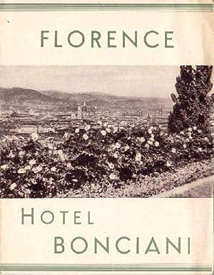 Florence, Hotel Bonciani. Faltprospekt mit einigen Abbildungen: Florenz -