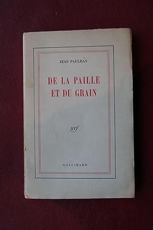 De la paille et du grain: Jean Paulhan