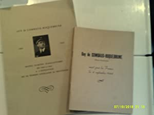 GUY DE COMBAUD ROQUEBRUNE 1904-1944 Notes rites d'Angleterre de 1943 1944 l'intention de sa femme...