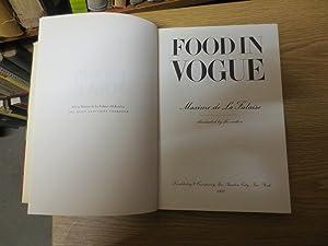 Food in Vogue: La Falaise, Maxime
