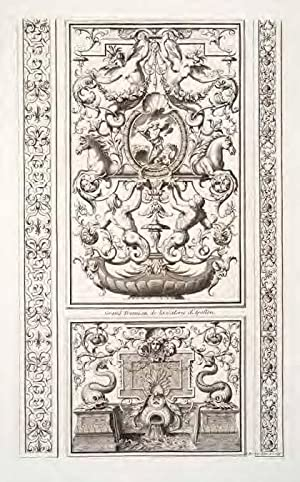 Ornemens de peinture et de sculpture, qui: Bérain, Jean, Chauveau,