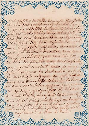 Autograph letter by a Prussian lady to